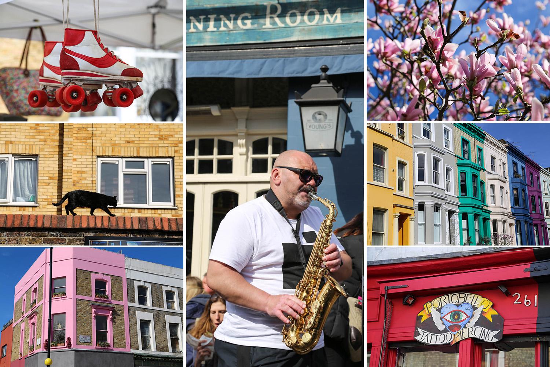 Kevät alkaa Notting Hillin värikylvystä
