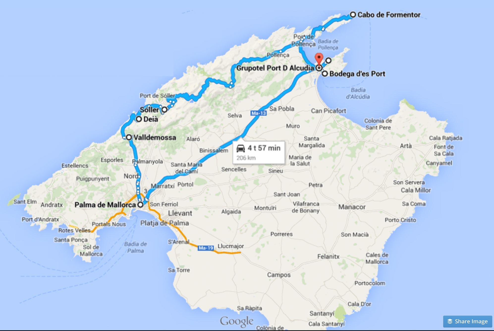 Mallorca Autoillen Aikaa Yksi Paiva Video