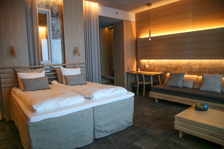 Hotelli Iso-Syöte Star Superior hotellihuone.