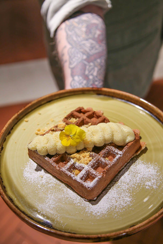 Porkkanakakkuwaff. Vohveliravintola WaffDaddy.